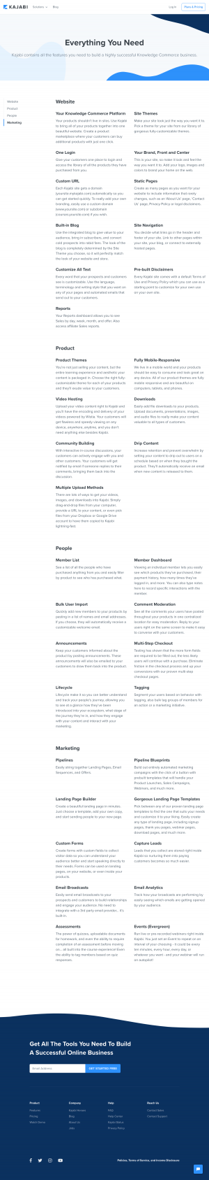 Kajabi - Features page 1
