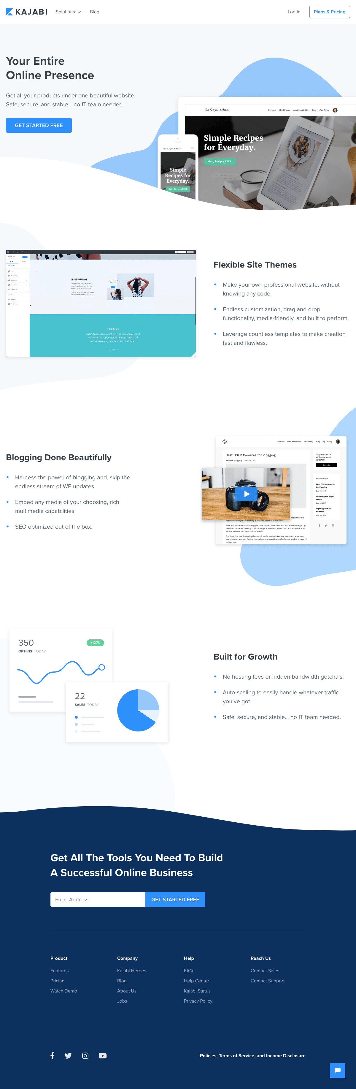 Kajabi - Features page 2