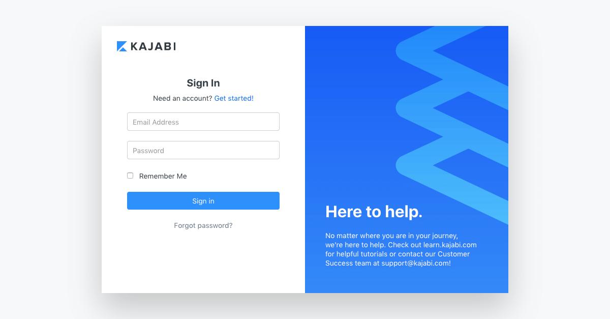 Kajabi - Login page