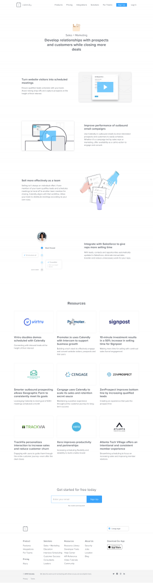 Calendly - Features page 2