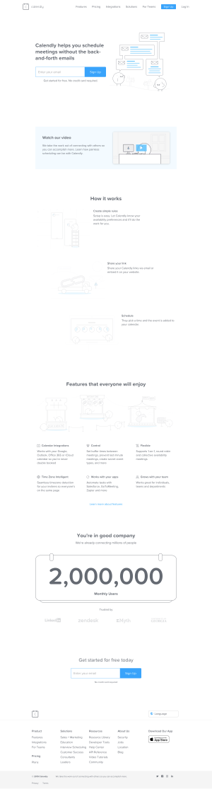 Calendly - Homepage