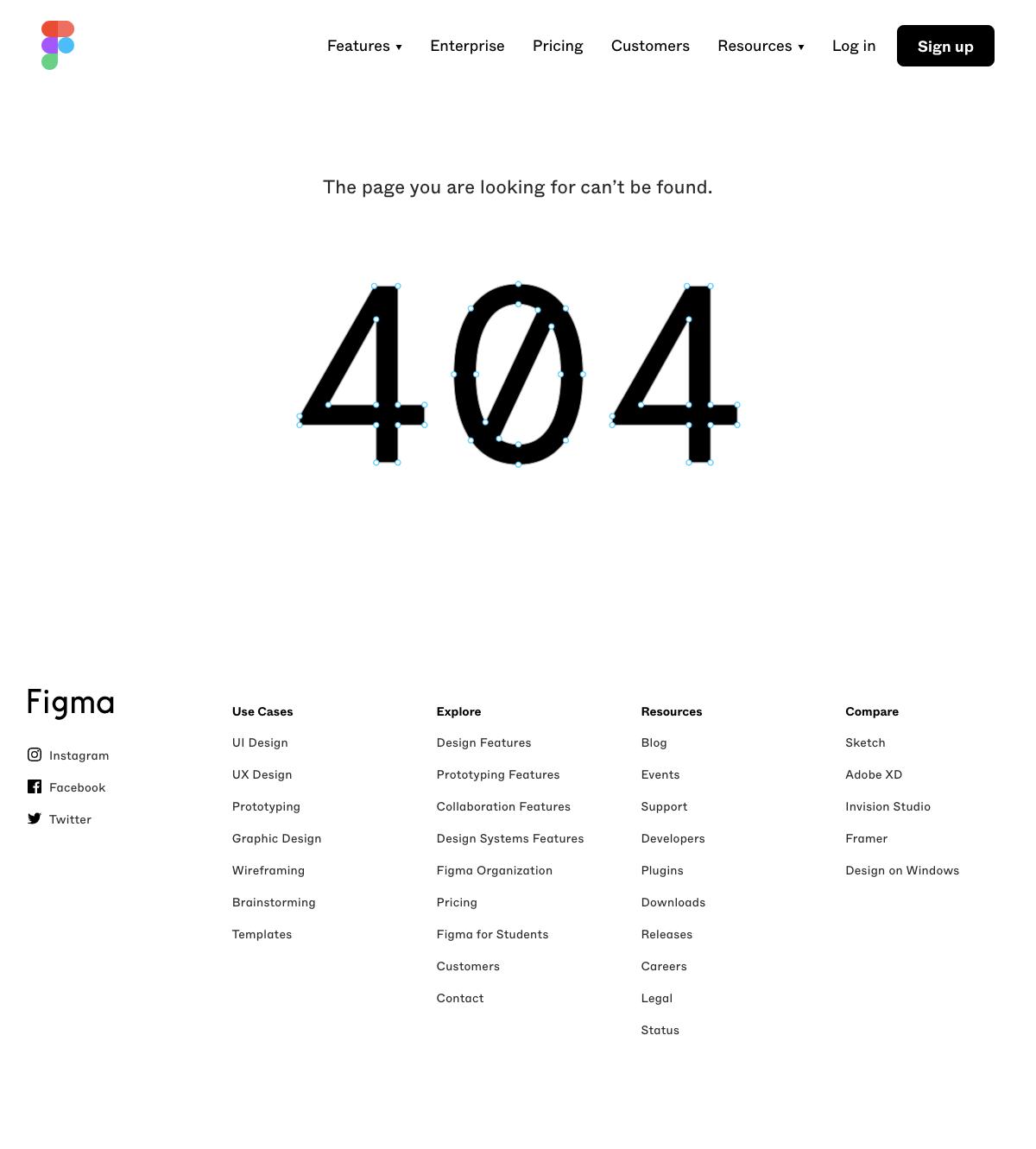 Figma - 404 Error page
