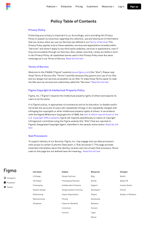 Figma - Legal page