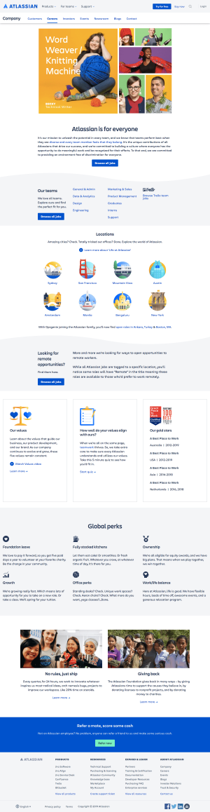 Atlassian - Career page