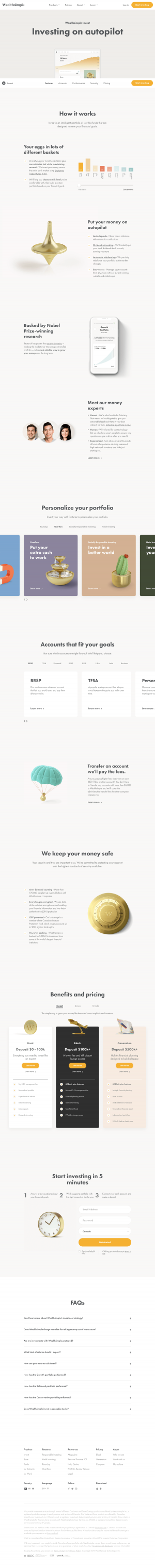 Wealthsimple - Features page