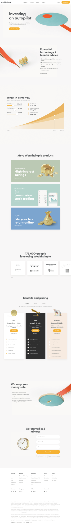 Wealthsimple - Homepage