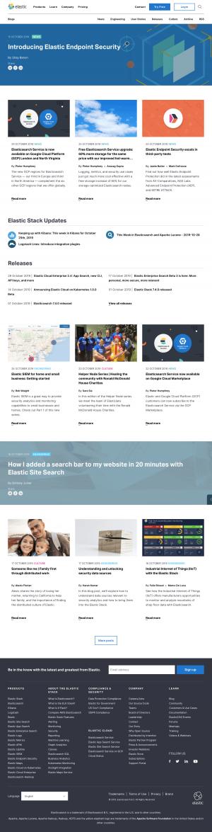 Elastic - Blog index