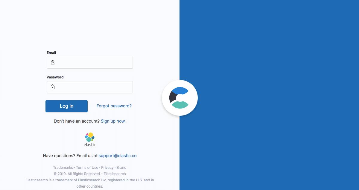 Elastic - Login page