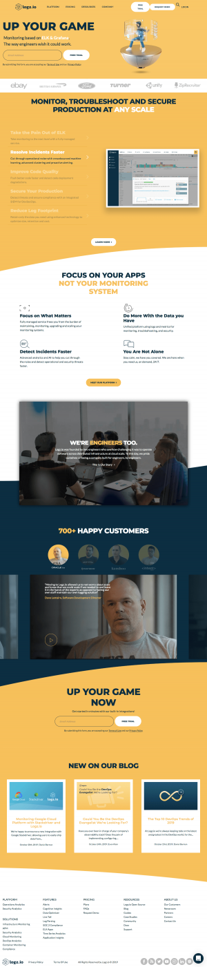Logz.io - Homepage