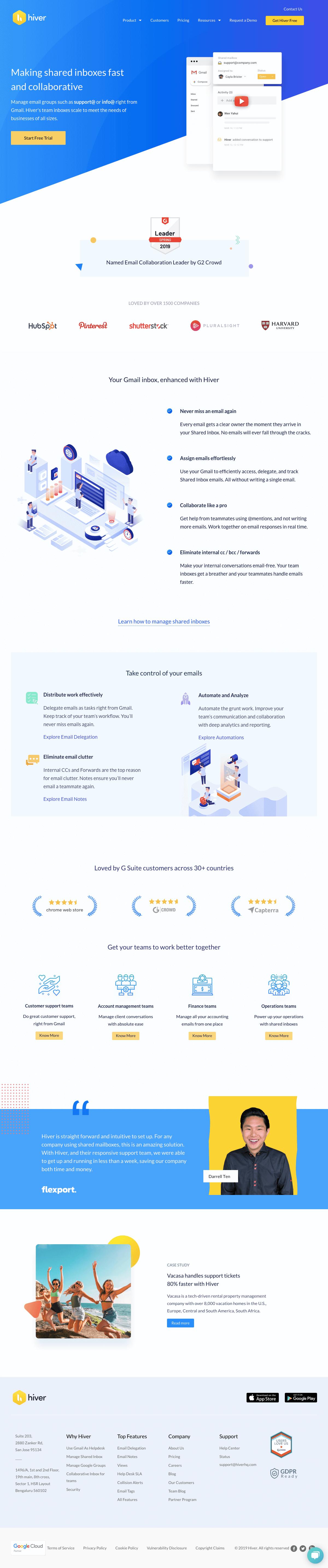 Hiver - Homepage