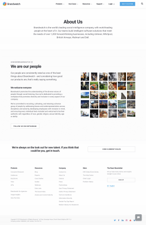 Brandwatch - About us page