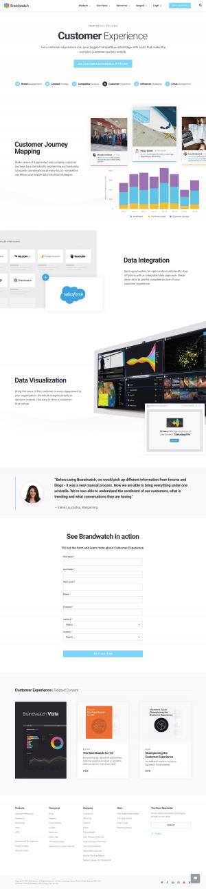 Brandwatch - Customers page