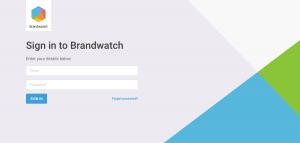 Brandwatch - Login page