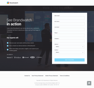 Brandwatch - Booking demo