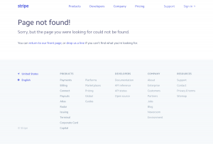Stripe - 404 Error page
