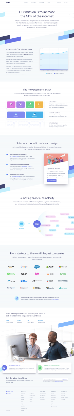 Stripe - About us page