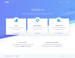 Stripe - Contact page