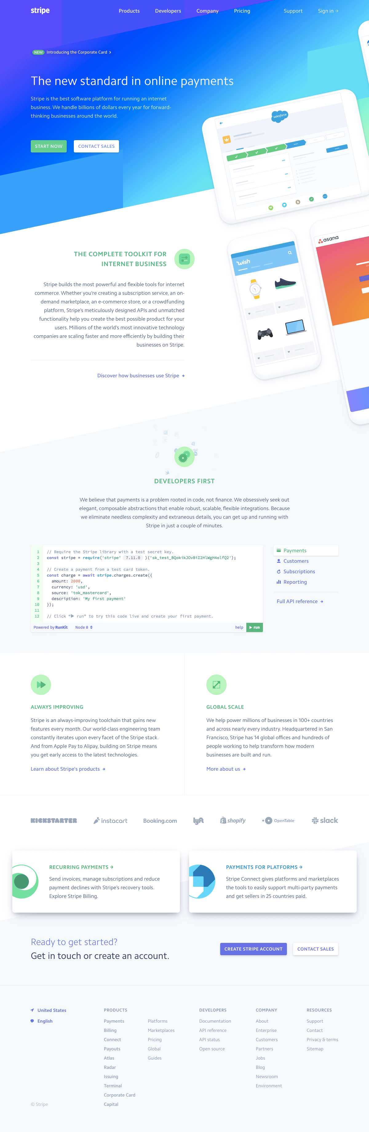 Stripe - Homepage