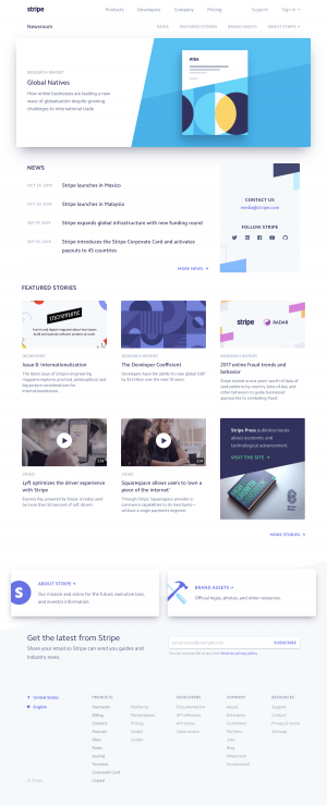 Stripe - Media kit page 1