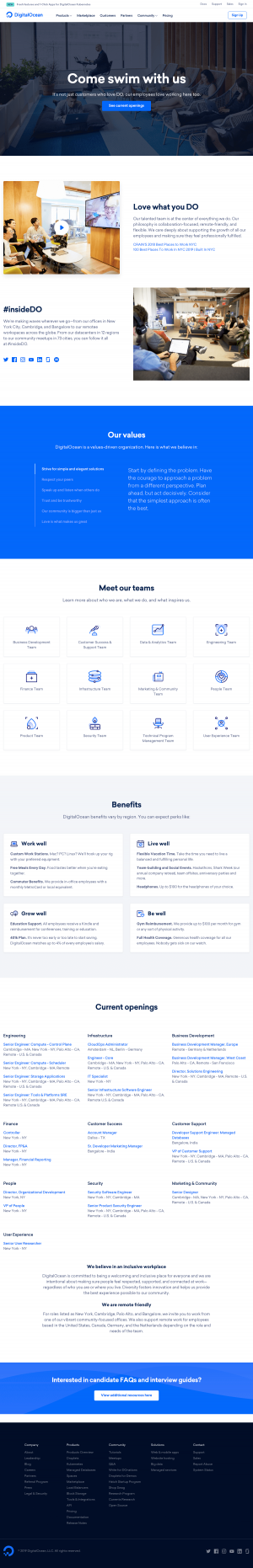 DigitalOcean - Career page