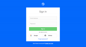 DigitalOcean - Login page