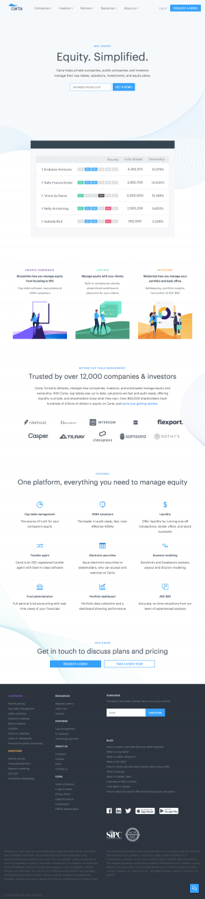 Carta - Homepage