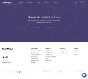 ChartMogul - 404 Error page