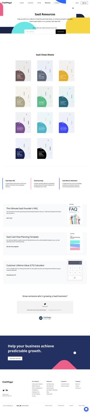 ChartMogul - Resources page