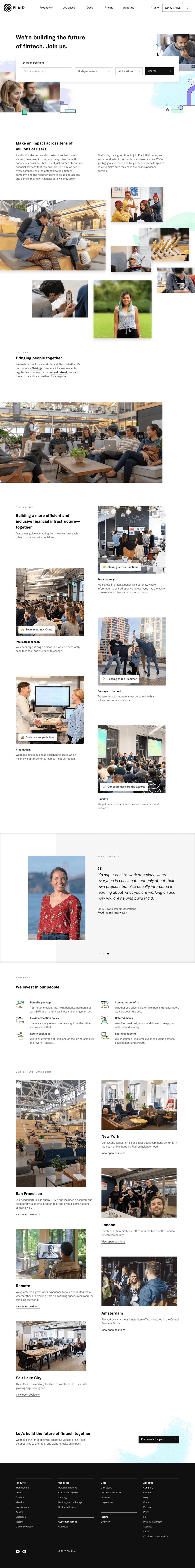 Plaid – Career page