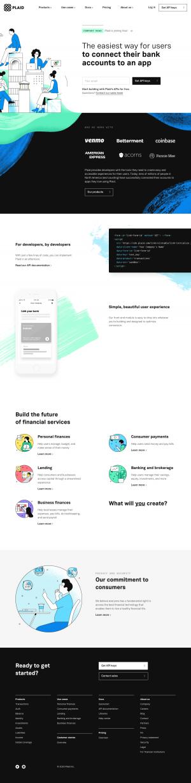 Plaid – Homepage