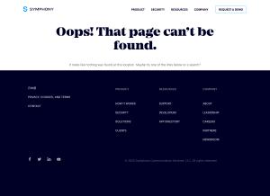 Symphony – 404 Error page