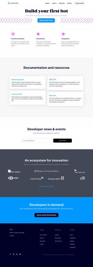 Symphony – Resources page