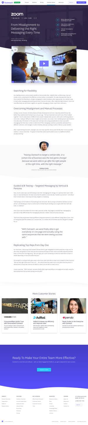 Outreach – Customers page 2