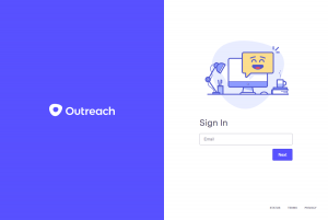 Outreach – Login page