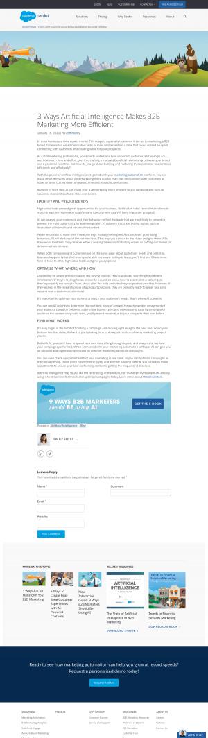 Pardot – Blog Article