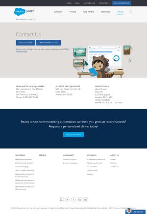 Pardot – Contact page