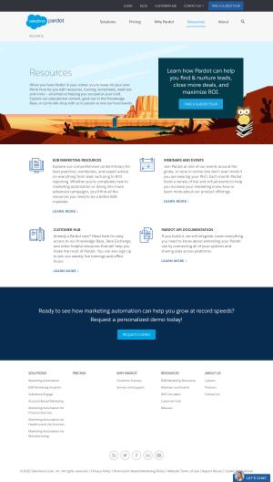 Pardot – Resources page