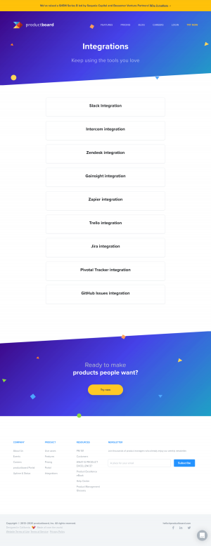 productboard – Integrations page 1
