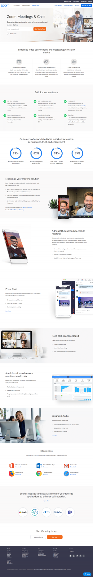 Zoom – Features page 1