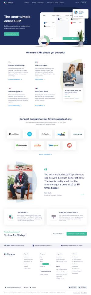 Capsule – Homepage
