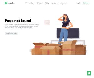 PandaDoc – 404 Error page