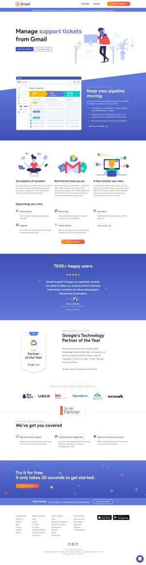 Streak – Homepage