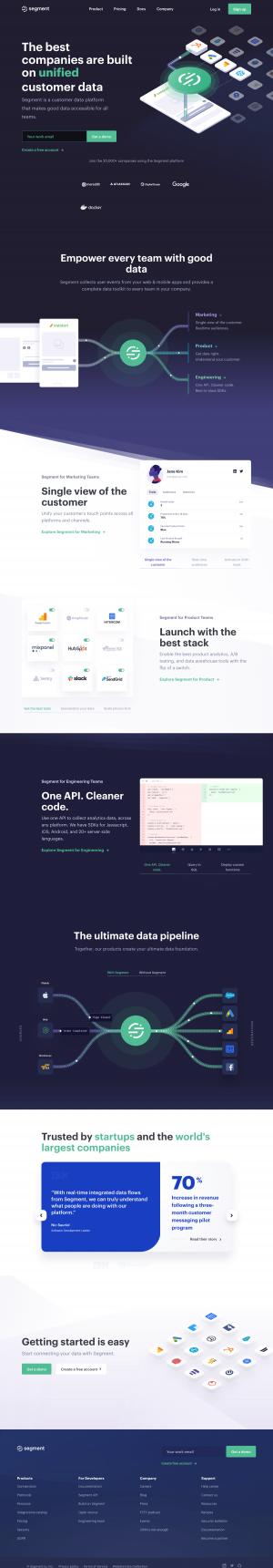 Segment – Homepage