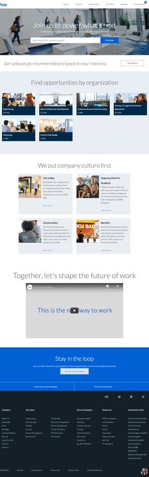 Box – Career page