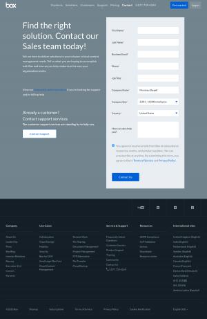 Box – Contact page