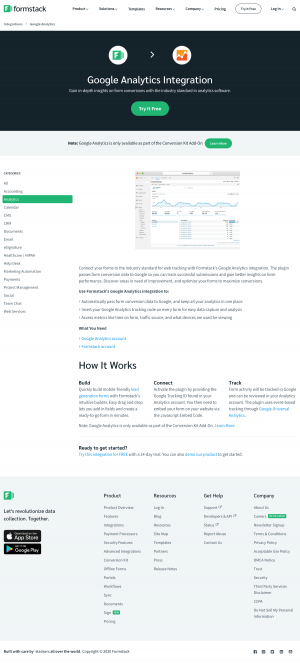 Formstack – Integrations page 2