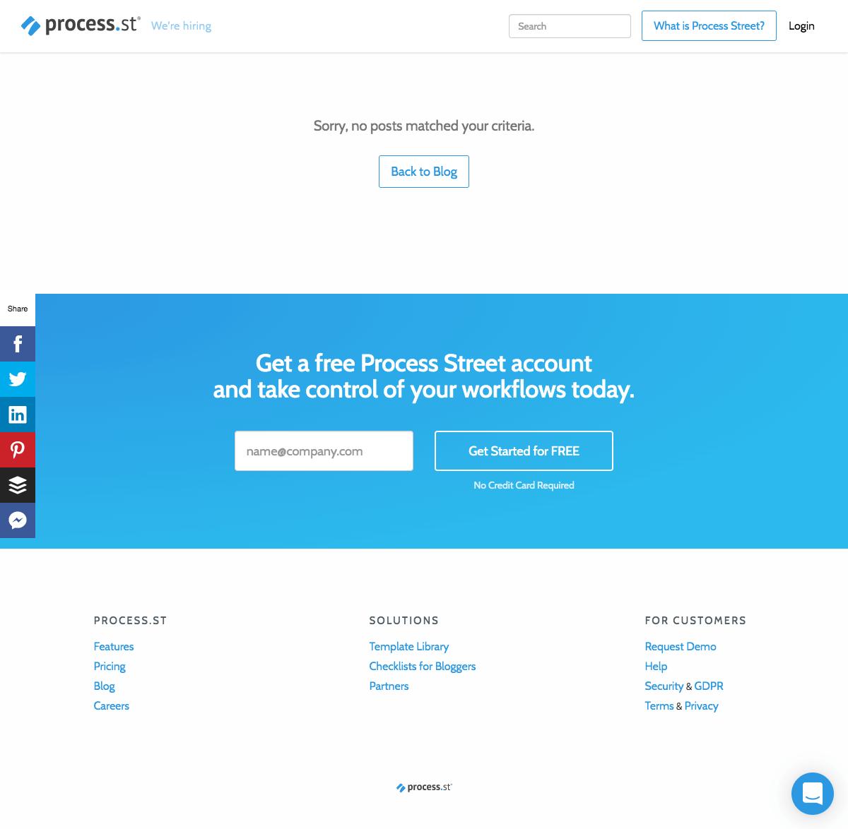 Process Street – 404 Error page