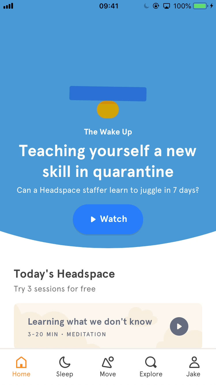 Invite friends - App - Headspace