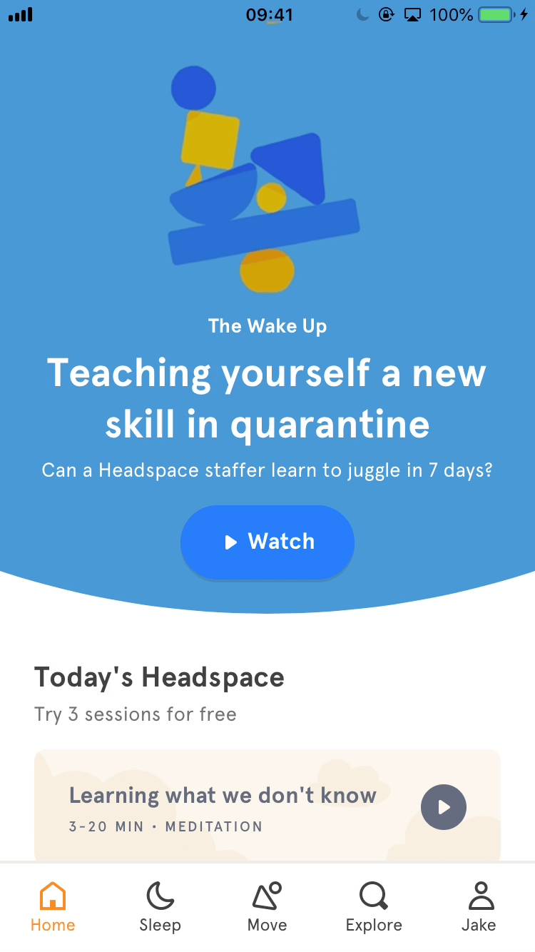 Updating language - App - Headspace