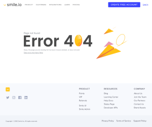 Smile.io – 404 Error page